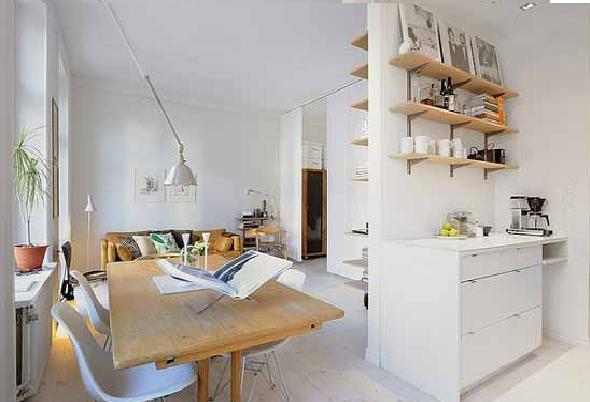 Minimalist Small Apartment Interior  Small Space