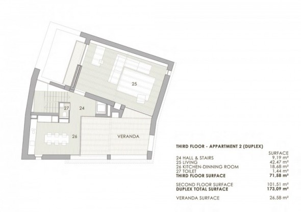 Alemanys 5 El Badiu Apartment by Anna Noguera- sketsa