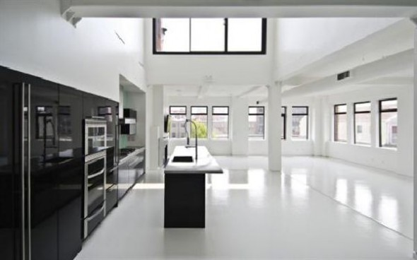 Black and White Apartment Interior Designs Kitchen