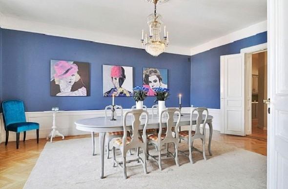 Classic Interior Decor Apartment-dining