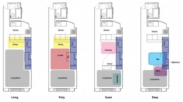 Clever Unfolding Apartment-site plan