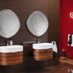 Contemporary wooden bathroom vanities ikea picture