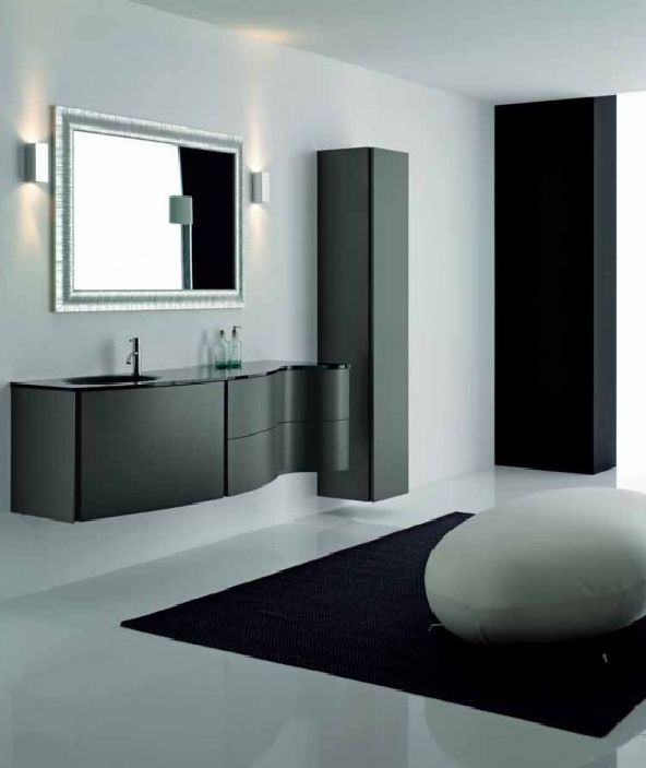 Elegant Black Bathroom Cabinets