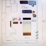Interior design apartment of the small loft