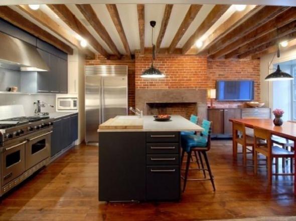 Julianne Moore Luxury Apartment Kitchen Design