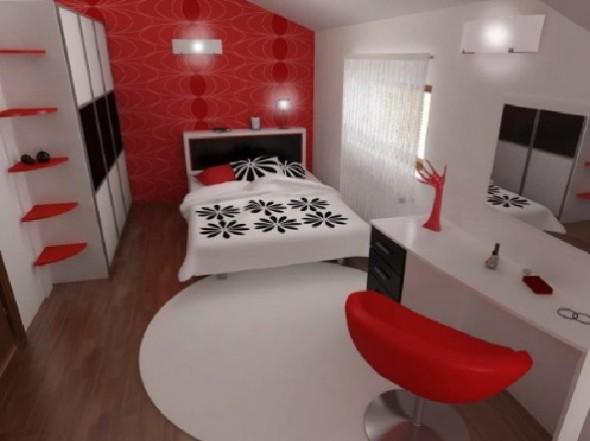 Red Studio Apartment Henri Matisse-Bed