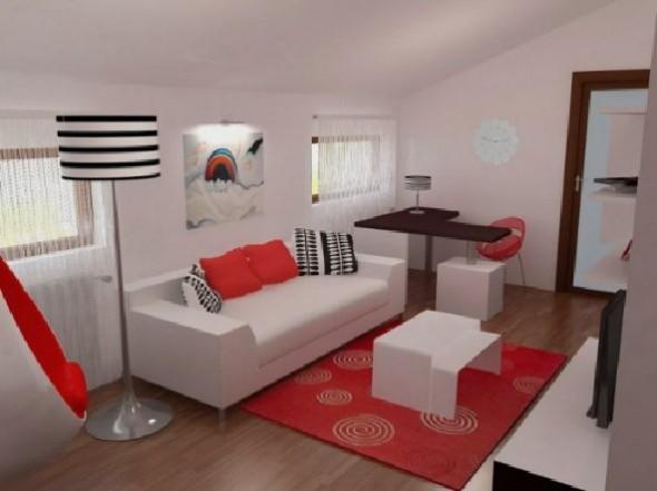 Red Studio Apartment Henri Matisse-Sofa