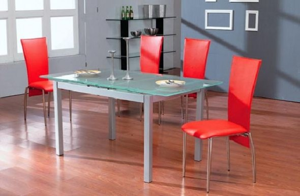 Red furniture dining ideas