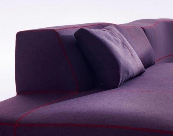 Sectional Sofas Furniture Design Bend Patricia Urquiola Backrest Purple