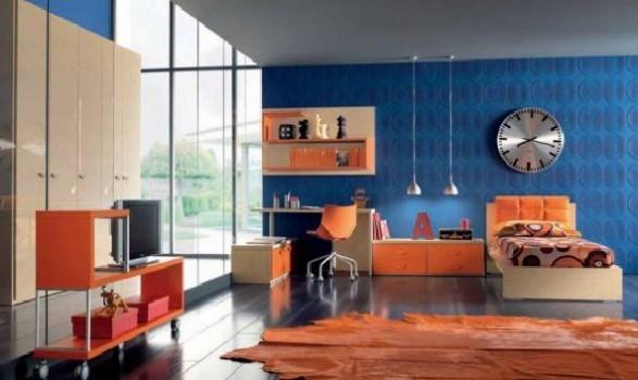Teen Bedroom Room-orange