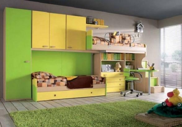 Teen Bedroom Room-green