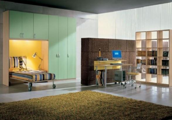 Teen Bedroom Design-brown