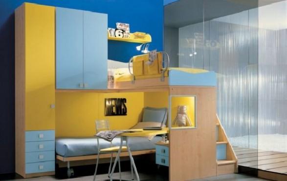 Teen Bedroom Design-blue