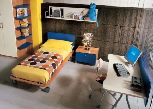 Teen Bedroom Design-Yellow