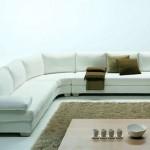 White modern sectional sofas