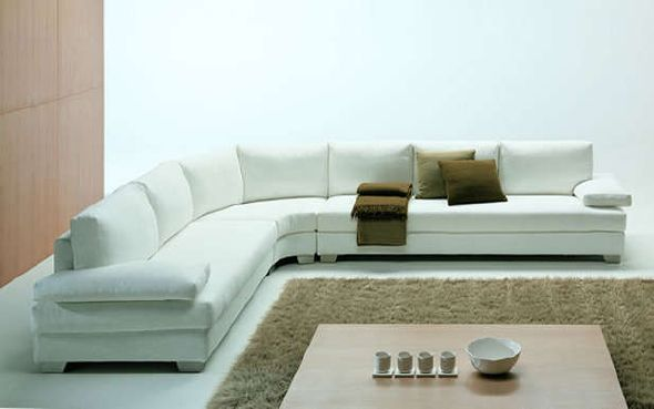 White modern sectional sofas
