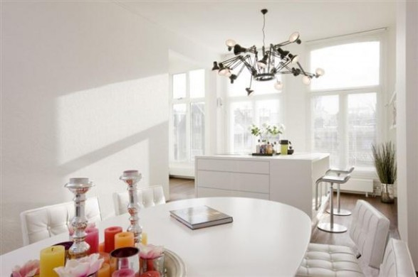 creative dinning table decor ideas Hofman Dujardin Architects
