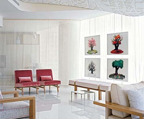 fresh And stylish Condominium Decorating