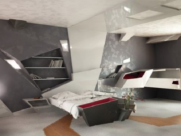 futuristic apartment interior designs