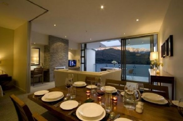 Luxury Dining room Apartment Lake Views