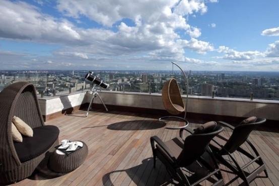 luxury deck apartments in Moskow