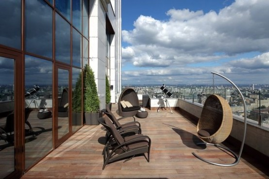 deck view luxury apartments in Moskow