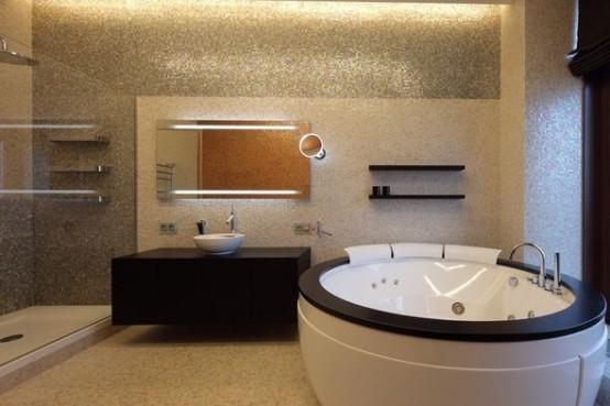 bathroom luxury apartments in Moskow