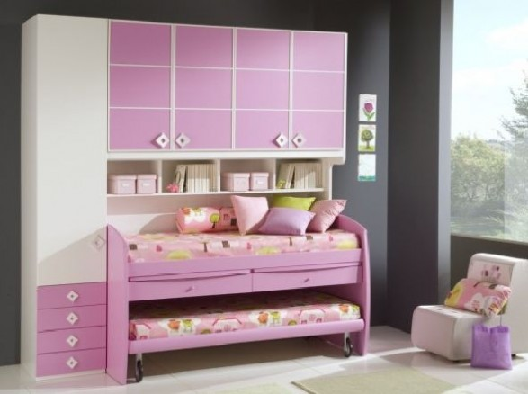 pink girls bedrooms deco