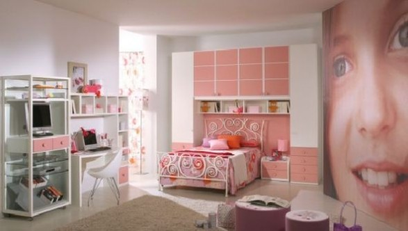 pink girls bedrooms decorating