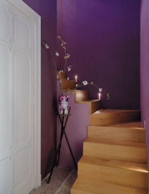 Stairs purple loft