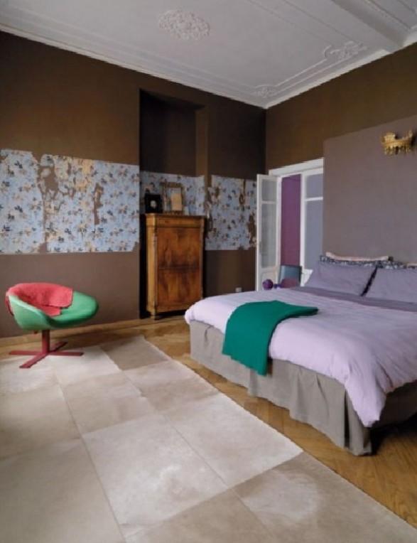 mastrer bedroom purple loft