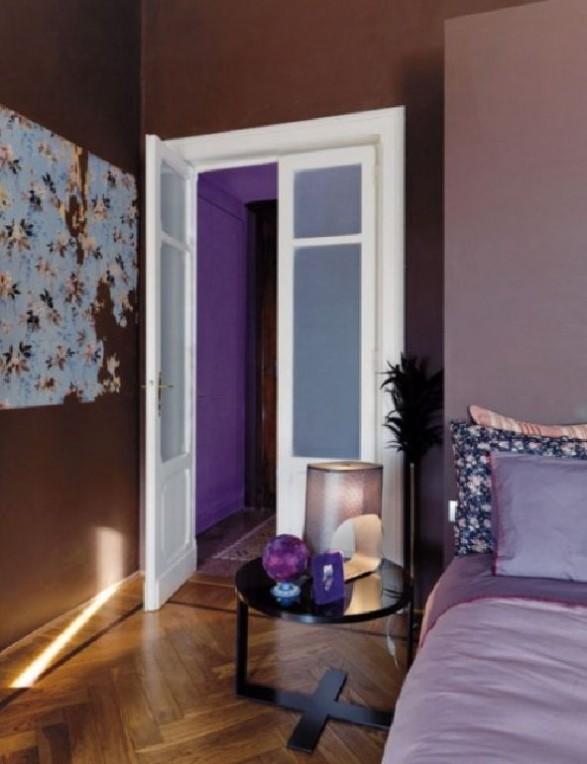 bedroom purple loft