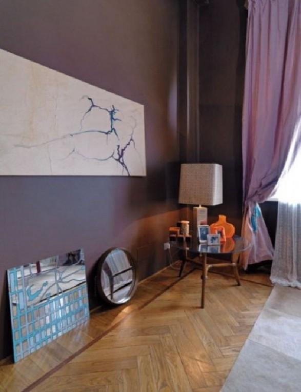 purple loft decor