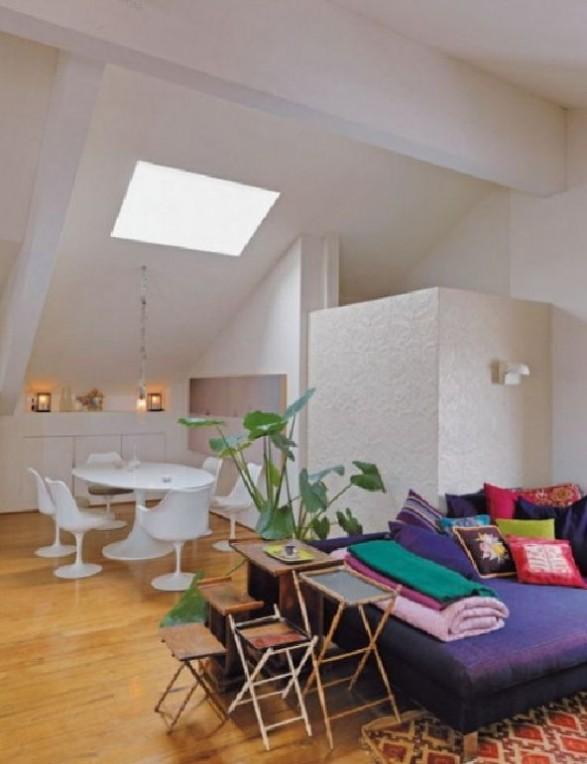 Dining purple loft