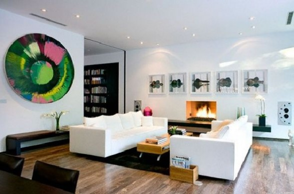 Simple Modern House Living room
