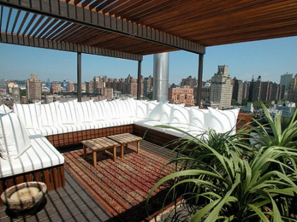 rooftop pergola designs apartment