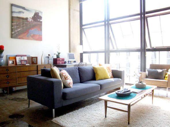 simple sofa for small loft apartment