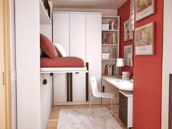 Red small teen room