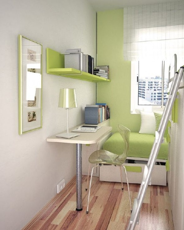 Green small teen room