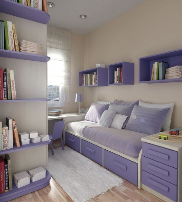 Grey small teen room