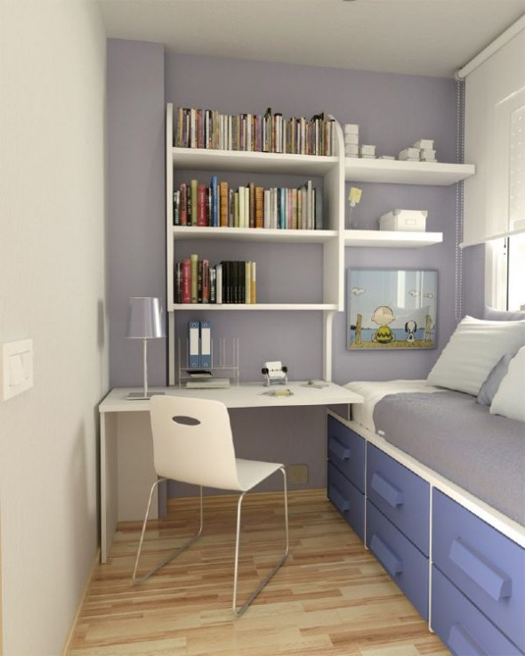 Minimalist small teen room