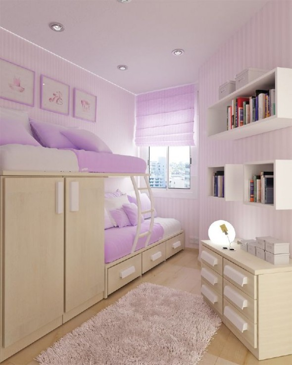 Purple small teen room