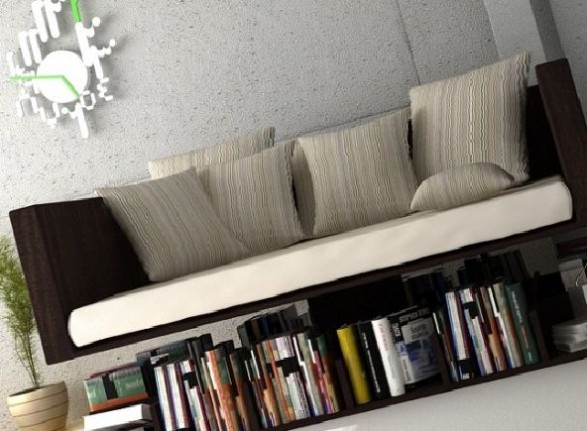 Sofa Above The Books