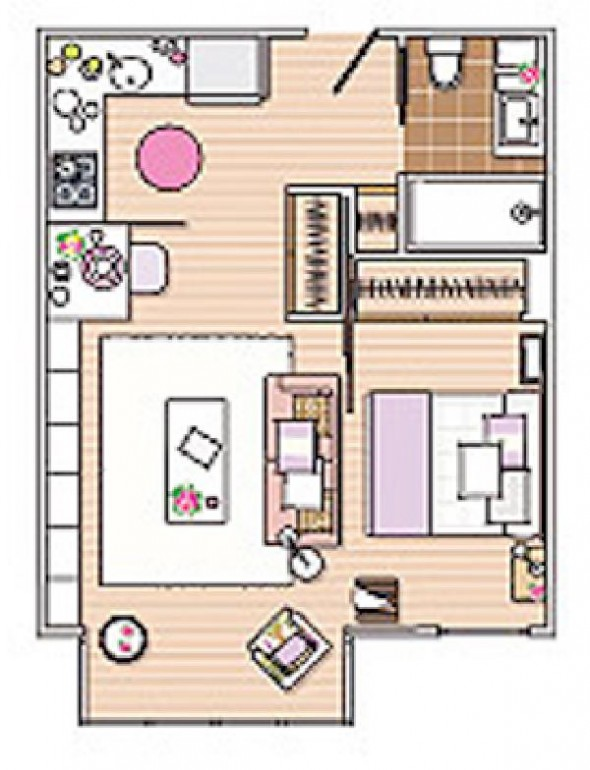 square meter apartment comfy-plan