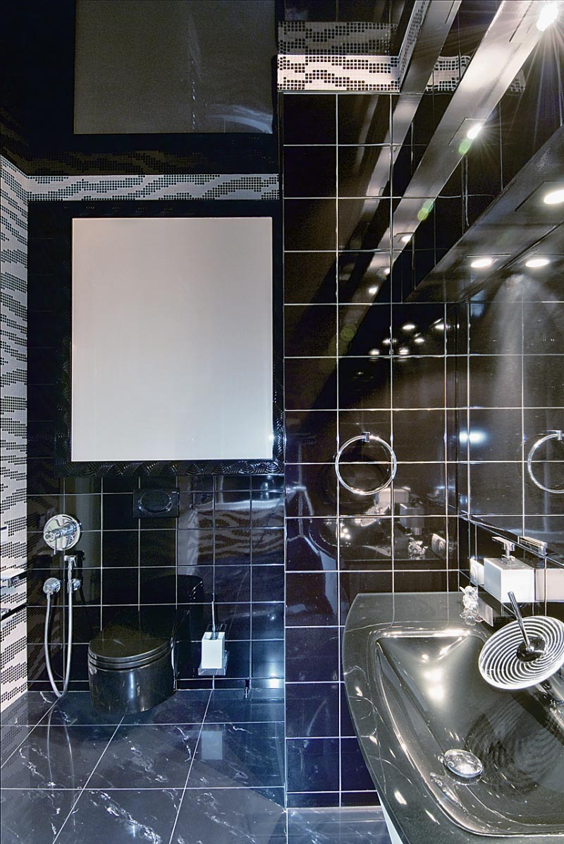 Bathroom at Futuristic Apartment Interior