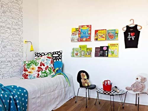 Colorful Kids Bedroom Semi Open House, Cozy Semi-Open Apartment Interior Design