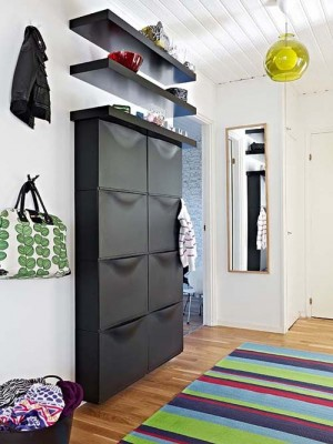 Contemporary Semi Open House Wardrobe, Cozy Semi-Open Apartment Interior Design