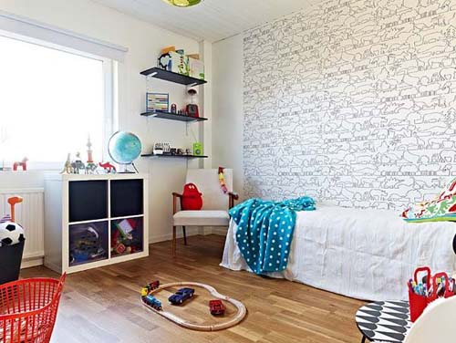 Creative Children Room Semi Open House, Cozy Semi-Open Apartment Interior Design