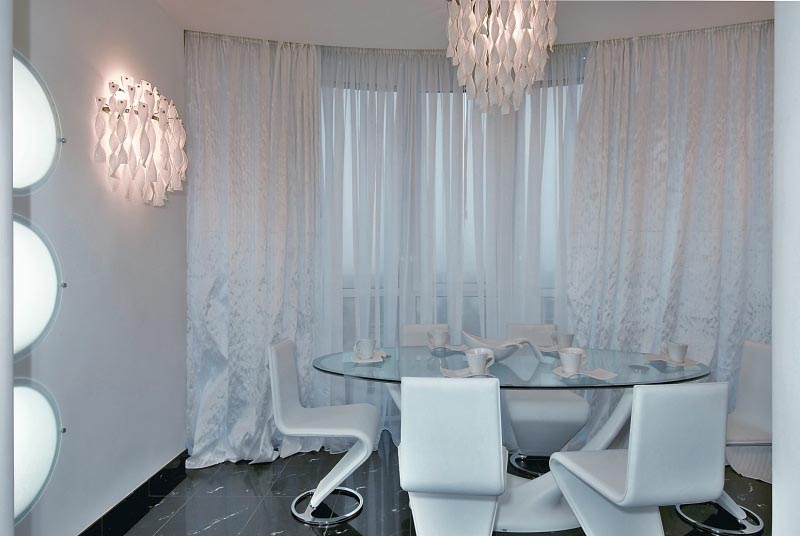 Dining Room at Futuristic Apartment Interior