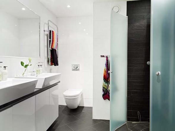 Modern Bright Apartment Home Decorating bathroom Design Ideas-bathroom